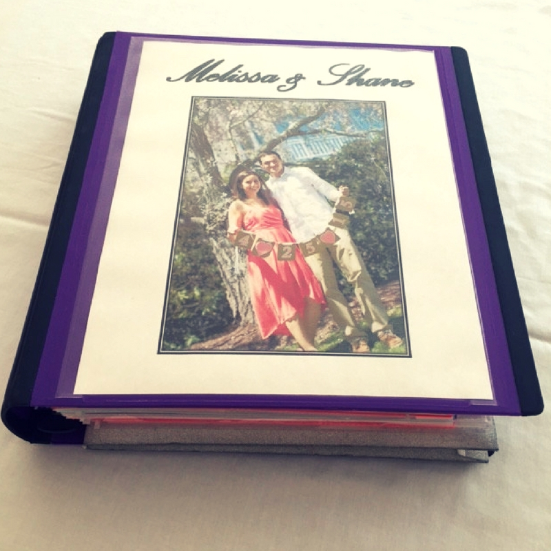 Wedding Binder Organization