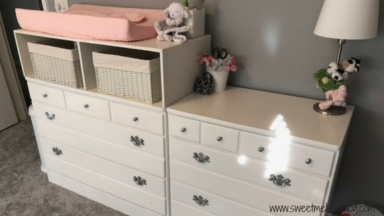 In Last Weeku0027s Post I Mentioned Shane Added A Changing Table Top To  Heighten The Dresser For Us Tall People. As A Result We Have Two Extra  Storage Spaces ...